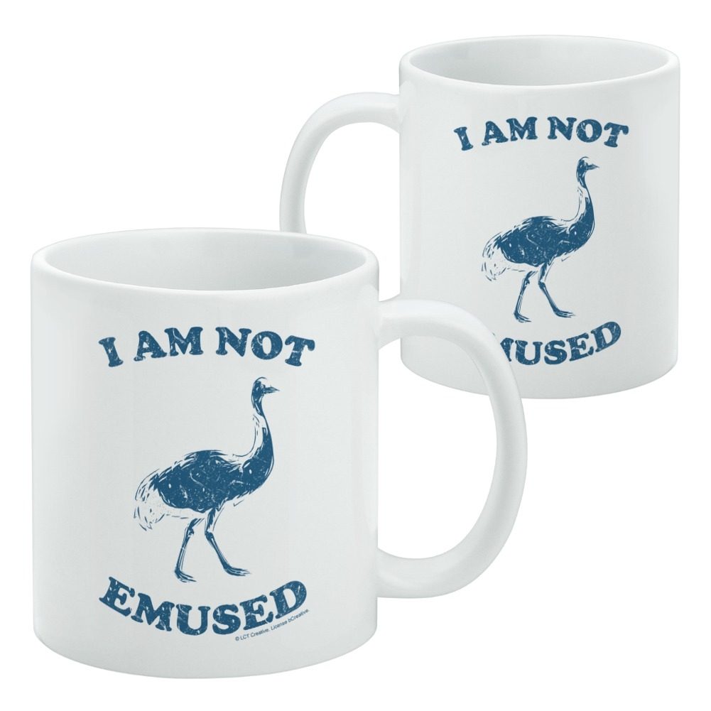 I Am Not Emused Emu Amused Funny Humor Home Business Office Sign