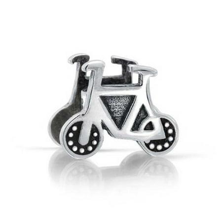 Sports Bike Biker Bicycle Charm Bead For Women For Teen 925 Sterling Silver Fits European Bracelet - Biker Birthday