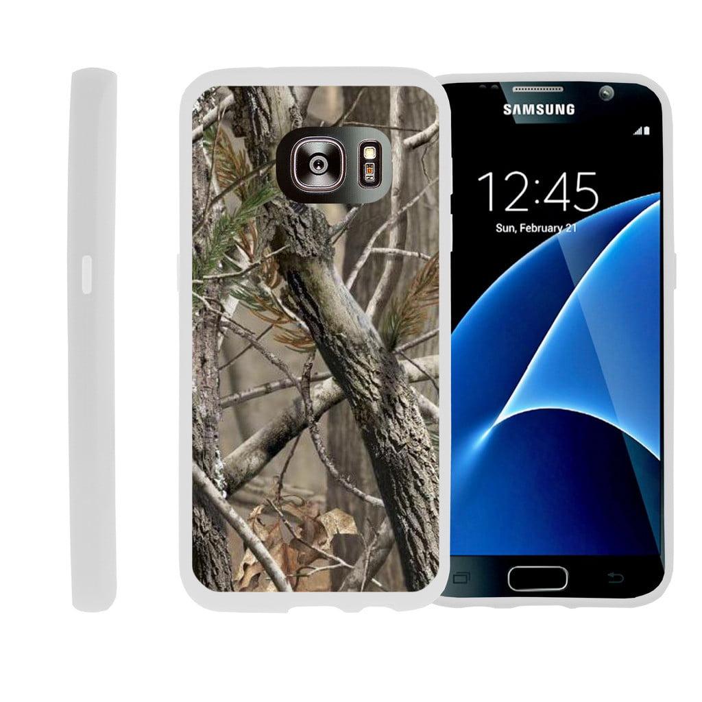 Flexible Case for Samsung Galaxy S6 Edge | SM-G925 Case [ Flex Force ] Lightweight Flexible Phone Case - Tree Branch Camo