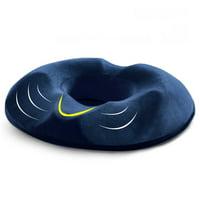 Memory Foam Donut Seat Cushion Orthopedic Hemorrhoid Treatment Donut Pillow Office Chair Car Seat Massage Cushion (For Men - Navy Blue)