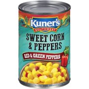 (6 Pack) Kuner's Southwest Sweet Corn & Peppers with Red & Green Peppers 15.25 oz. Can