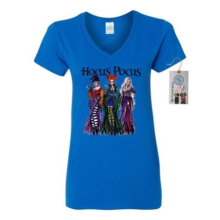 150253582 custom-apparel-r-us - womens v neck shirt top hocus pocus shirt sanderson  sisters - Walmart.com