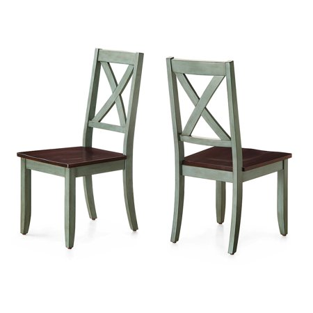 Better Homes & Gardens Maddox Crossing Dining Chairs, Set of 2, Multiple Finishes ()