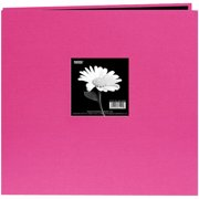 "Book Cloth Cover Post Bound Album 8""X8""-Bright Pink"