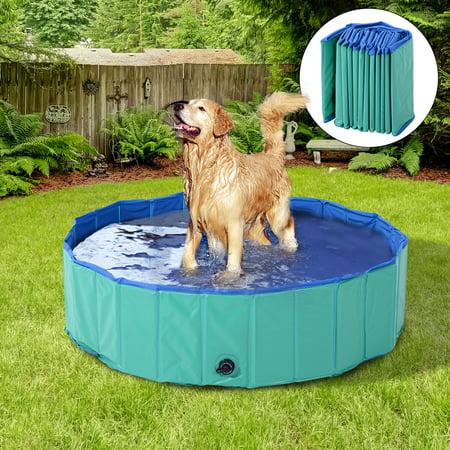 PawHut Foldable PVC Pet Swimming Pool (56