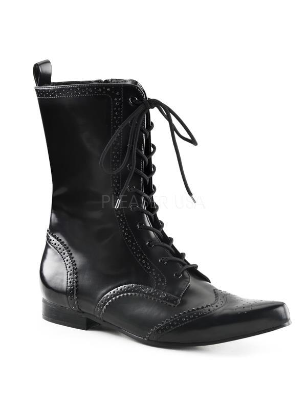BRO10 B NPU Demonia Vegan Boots Unisex BLACK Size: 10 by