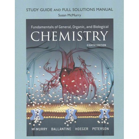 Study Guide and Full Solutions Manual for Fundamentals of General, Organic, and Biological (Fundamentals Of Electric Circuits Solution Manual 5th Edition)