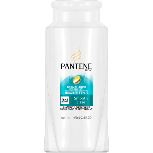 Pantene Pro-V Normal-Thick Hair Solutions Smooth 2 In 1 Shampoo + Conditioner, 22.8 oz