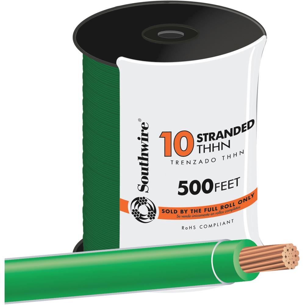 Southwire 500' 10str Green Thhn Wire 22977357