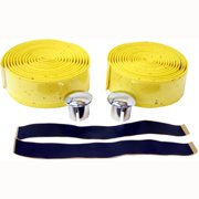 2 Pc Yellow Bicycle Eva Cork Tape For Handle Bars Parts Replacement Bike