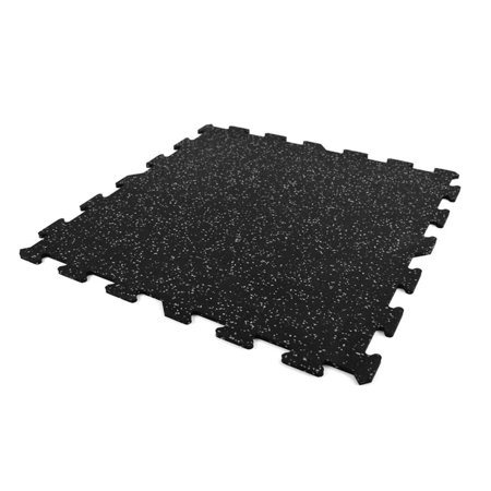 Sample FlooringInc Home Gym Floor Kit Mat- 3 inch x 3 inch Sample Piece Exercise Workout Tiles Black