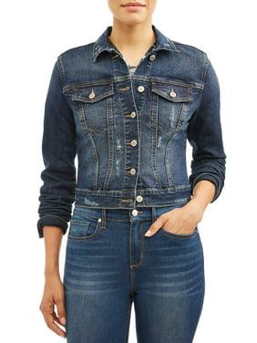 Sofia Jeans Marianella Destroyed Denim Jacket Women's