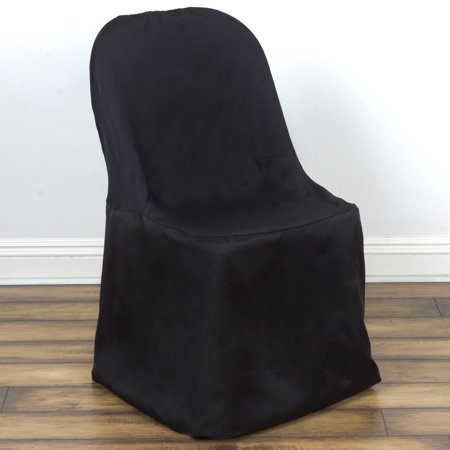 Wedding Reception Giveaways (BalsaCircle Polyester Folding Flat Chair Cover Slipcover for Party Wedding Reception)