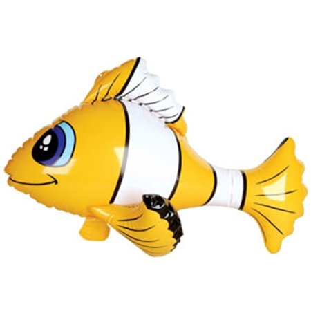 inflatable yellow tropical clown fish balloon decoration