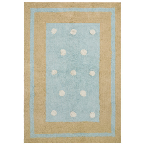 St. Croix Carousel Blue Border Dots Area Rug