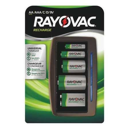 Battery Charger, AAA, AA, C, D, 9V Batteries ()