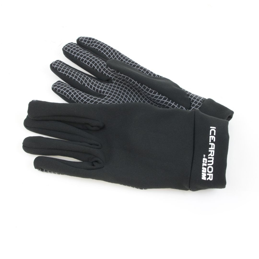 Clam Outdoors IceArmor Stretch Fleece Silicone Grip Glove - Black
