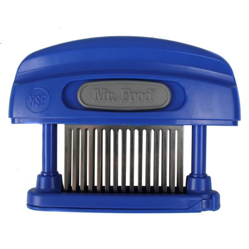 Mr. Food Butcher Magician Blue 45 Stainless Steel Blade Knife Meat Tenderizer