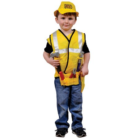 Construction Worker Halloween (Construction Worker Role Play Dress Up Set - Ages)
