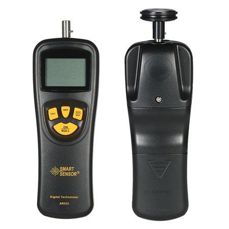 SMART SENSOR Handheld Contact LCD Digital Tachometer Speedometer Tach Meter Wide Measuring Rang  & High (A Motion Sensor And A Force Sensor Record)