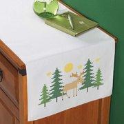 Herrschners Northwoods Dresser Scarf Stamped Cross-Stitch