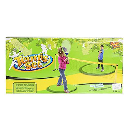 KARMAS PRODUCT Children Portable Tennis Racket Play Set Outdoor Toys Sport