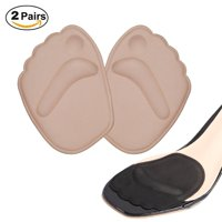 2 Pairs Thick Ball of Foot Cushions,Anti-slip Gel Metatarsal Foot Pads for High Heels,Self-Sticking Shoe Inserts for Forefoot Pain Relief