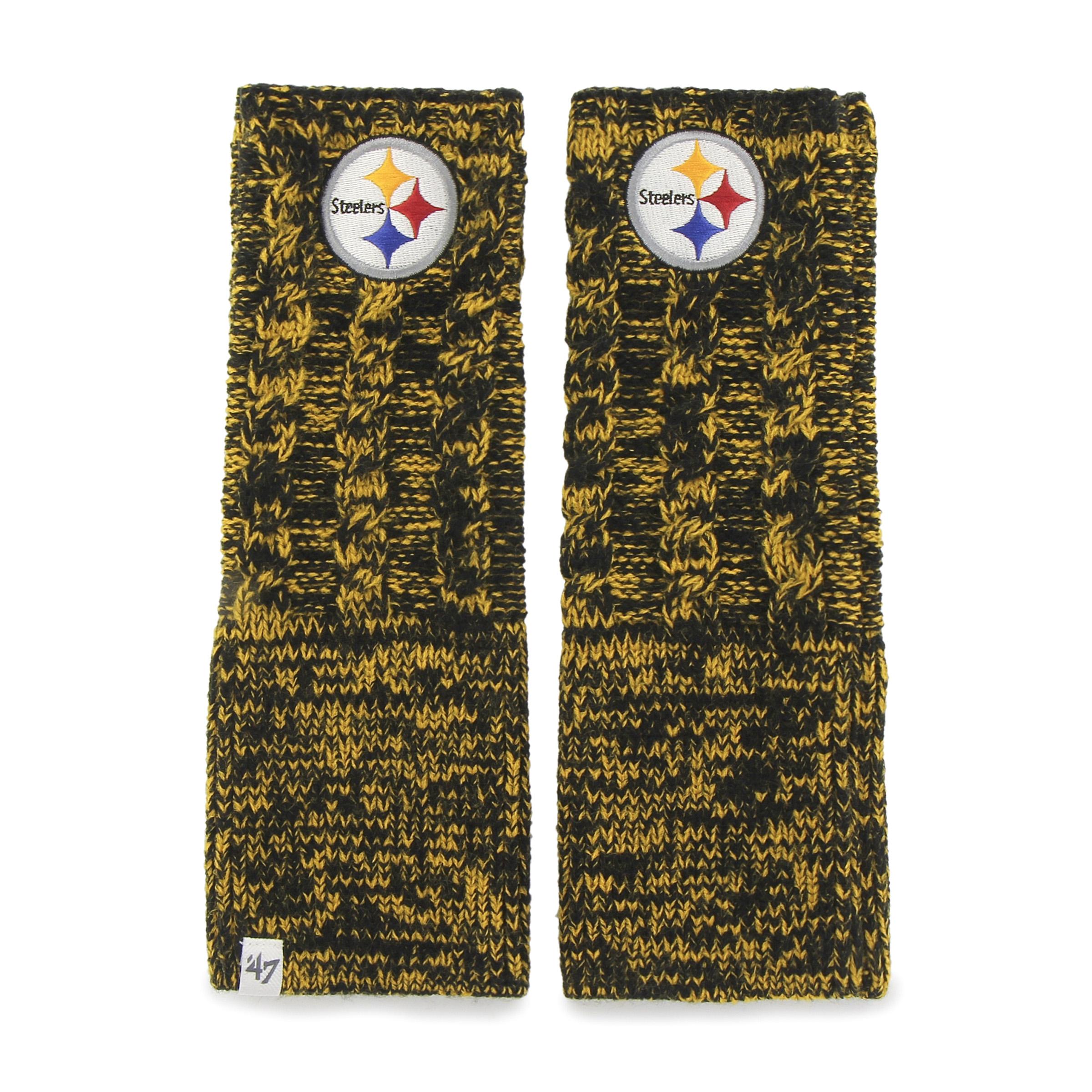 Pittsburgh Steelers Prima Women's Black Arm Warmer Gloves by 47 Brand
