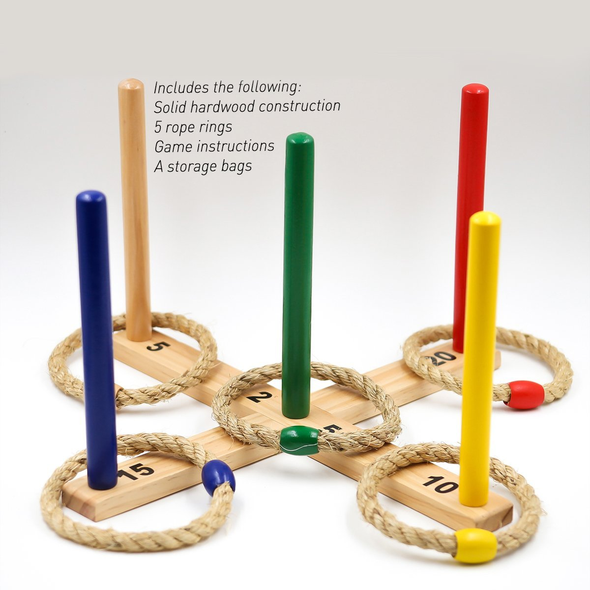 Ring Toss Game Set with Carry Bag