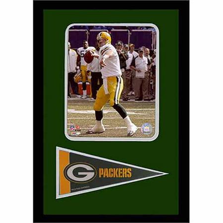 NFL Brett Favre Green Bay Packers 12x18 Pennant - Favre Green Bay Packers Framed