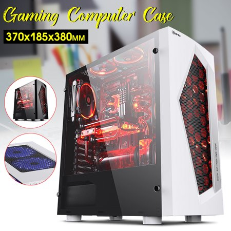 Black/White USB3.0 Ports MATX Cooler Gaming Computer Case with 8 LED Cooling Fans for Professional Gamers - image 3 de 8