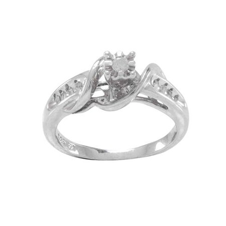 diamond accent promise ring in sterling silver - Wedding Rings From Walmart