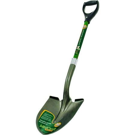 Image of Landscapers Select 34599 Digging Shovel, Fiberglass Handle, Green Handle