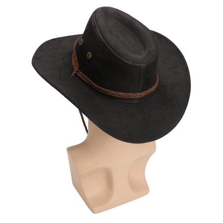 Hero Style Retro Black Western Cowboy Cowgirl Hat Men Women Riding Cap Wide Brim - image 5 of 6
