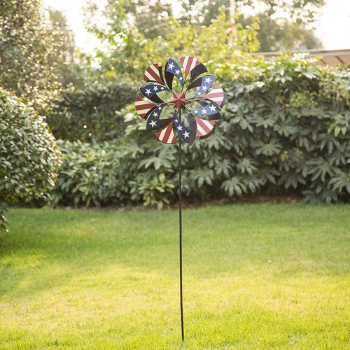 Winston Porter Patriotic Windmill Garden Stake by