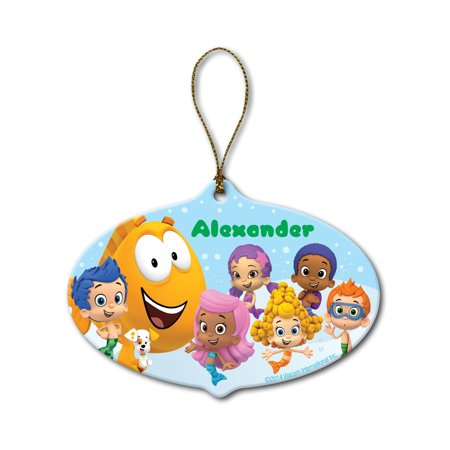 Personalized Bubble Guppies Christmas Ornament (Bubble Guppies Party Invitations)