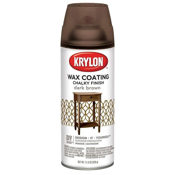 Chalky Finish Aerosol Spray Paint 12oz, Dark Brown Spray Paint For Wood Furniture