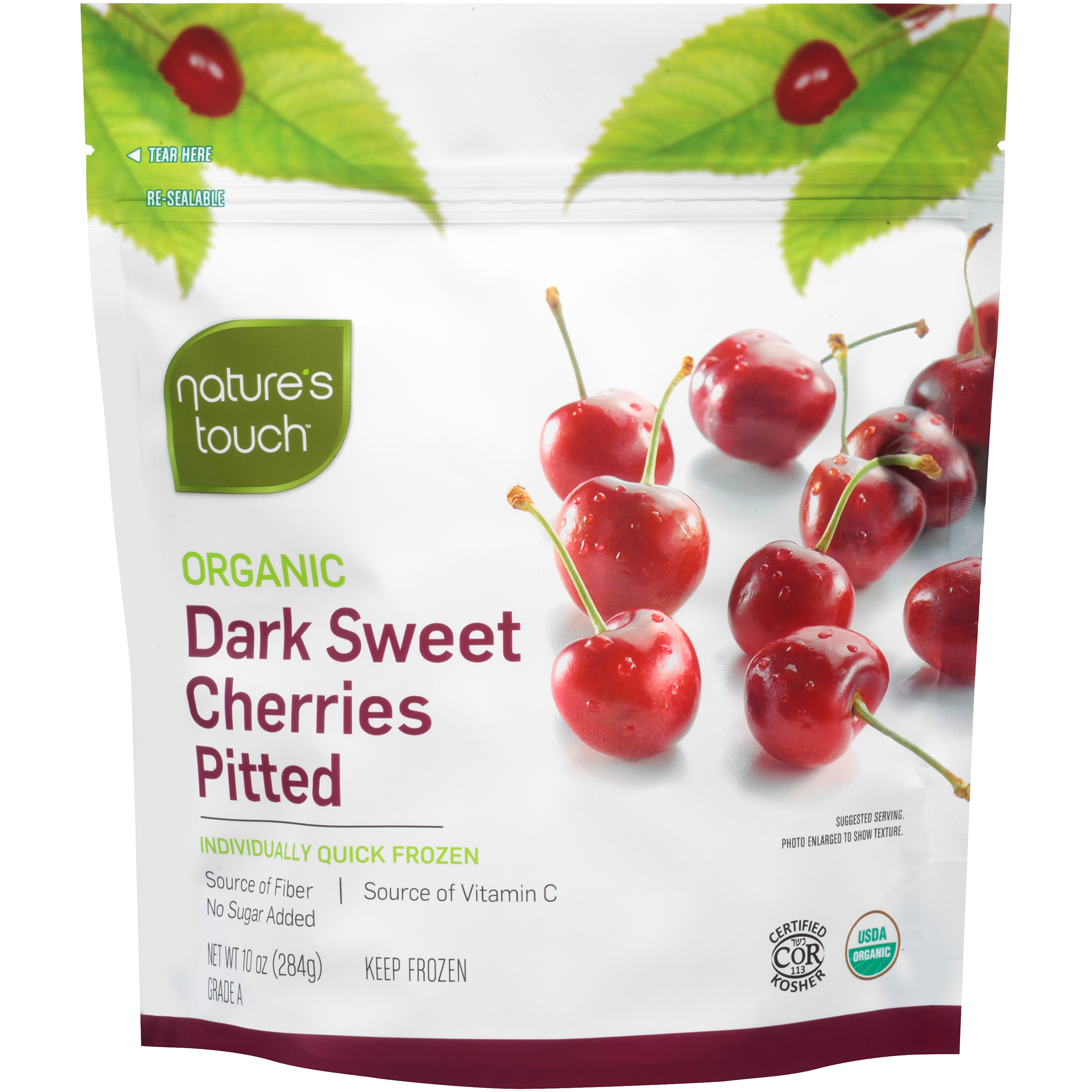 Nature's Touch Organic Dark Sweet Cherries Pitted, 10 oz., (8-Pack) by Nature's Touch