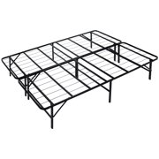 """Naomi Home idealBase 14"""" Platform Metal Bed Frame - Mattress Foundation – Box Spring Replacement-Bed Size:Full,Color:Black"""