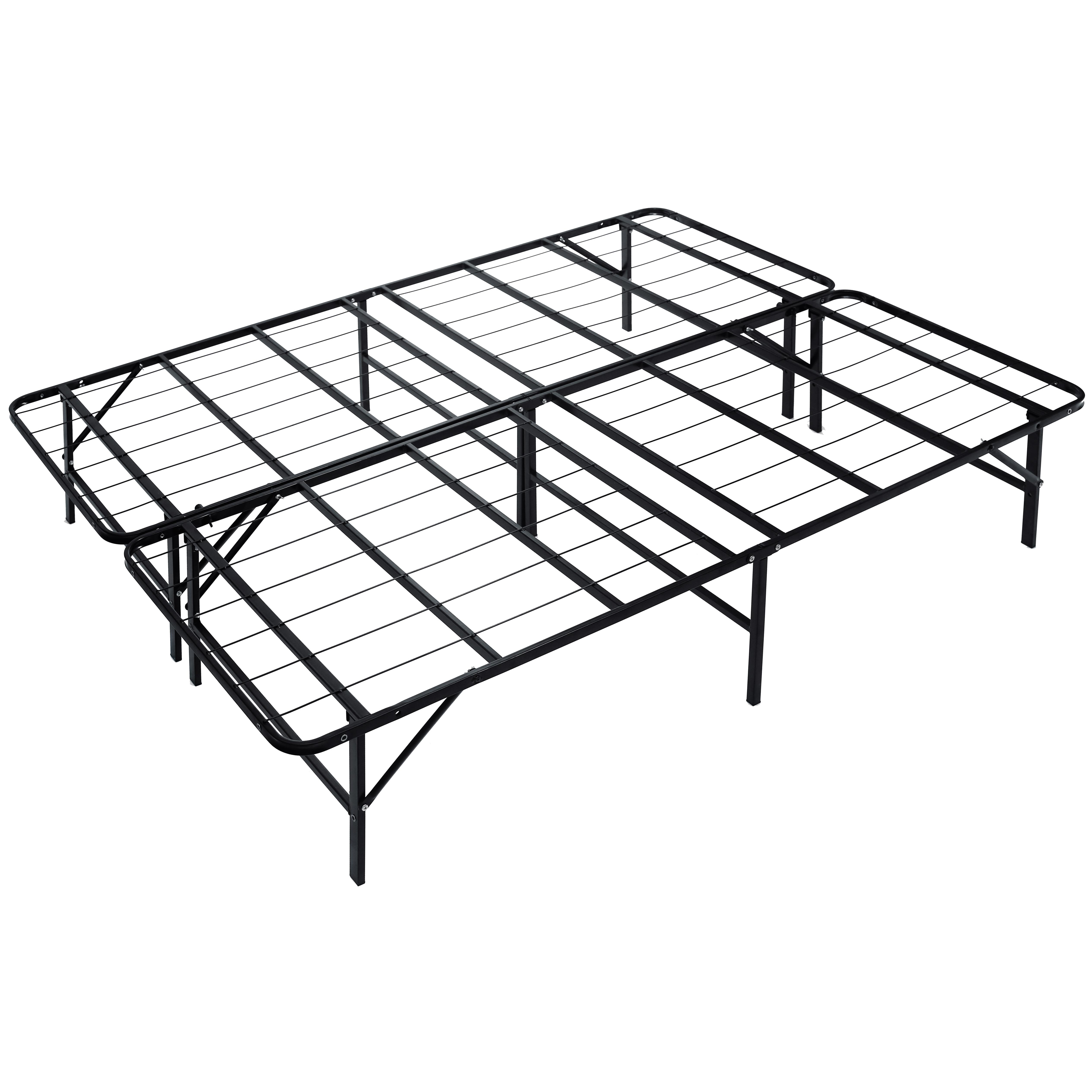 Naomi Home idealBase Heavy-Duty Noise-Free 14 Inch Platform Bed-Bed Size:Full,Color:Black