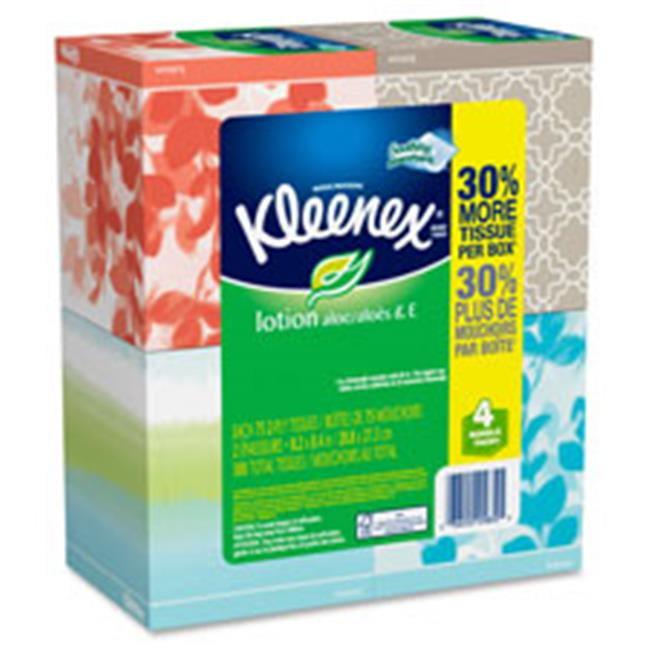 Kimberly-Clark Professional KCC25834CT Kleenex Lotion Facial Tissue, 32 Per Carton