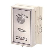 White-Rodgers Mercury-Free Universal Mechanical Thermostat For Single-Stage Heat Pump, White