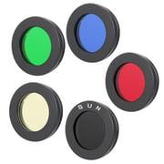 Tebru 1.25 /31.7mm Telescope Eyepiece Lens Color Filter for Moon Nebula Planet Sun, Eyepiece Lens Filter, Lens Color Filter
