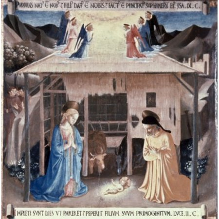The Nativity 1438-1445 Fra Angelico Fresco Museo di San Marco Florence Italy Poster Print