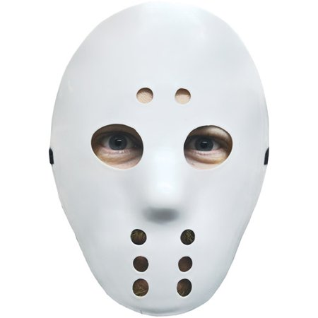 White Hockey Mask Adult Halloween Accessory - Halloween Color Mask Printables