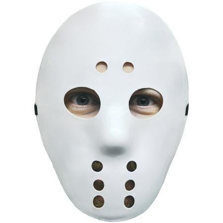 White Hockey Mask Adult Halloween Accessory](Jigsaw Masks Halloween)