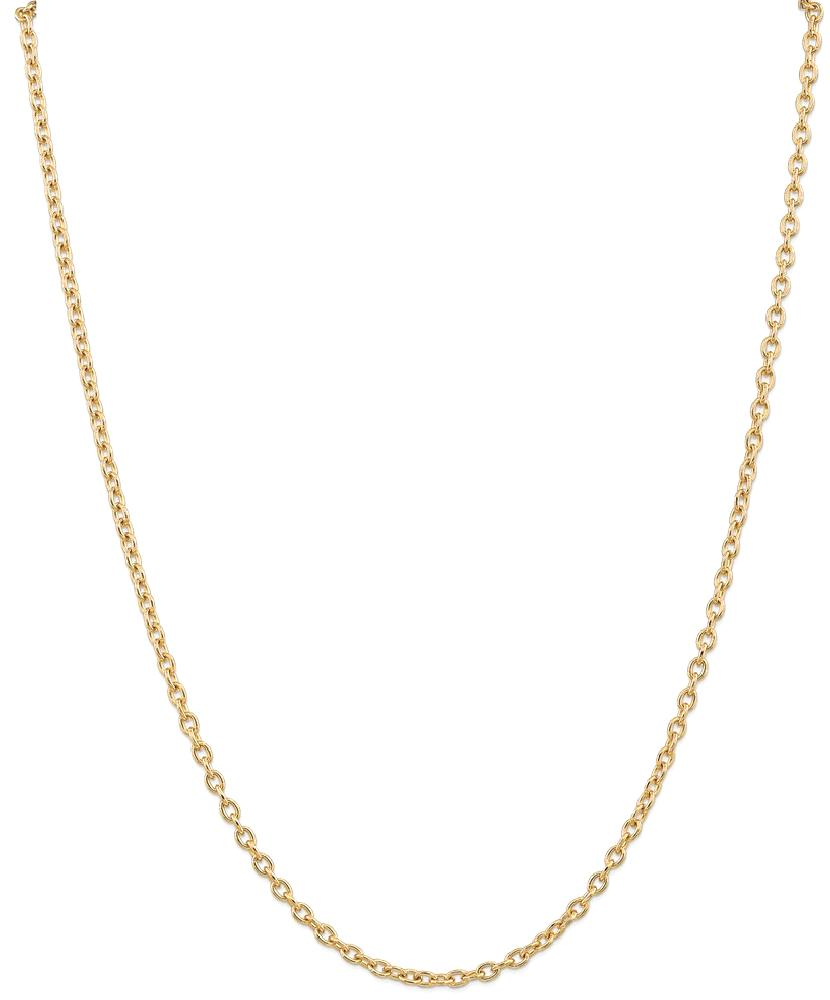 ICE CARATS 14kt Yellow Gold 3.2mm Link Cable Chain Necklace 24 Inch Pendant Charm Round Fine Jewelry Ideal Gifts For... by IceCarats Designer Jewelry Gift USA