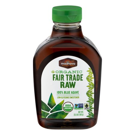 Madhava Organic Fair Trade Raw Agave Nectar 23.5 fl - Madhava Agave Nectar