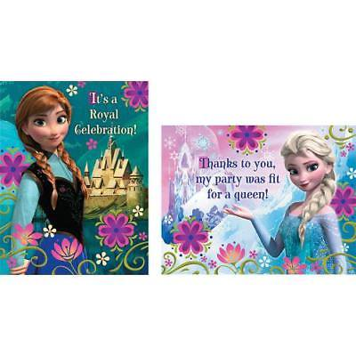 IN-13653583 Disney Frozen Invitations & Thank You Notes - Frozen Thank You