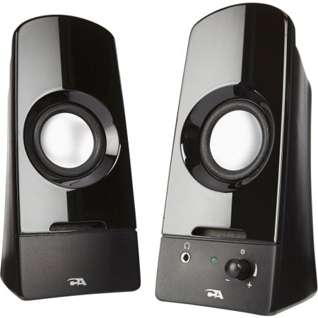 Cyber Acoustics CA-2050 Cyber Acoustics Curve Sonic 2.0 Speaker System - 3 W RMS - No - Volume Control